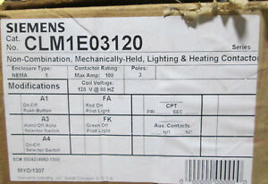 Siemens CLM1E03120 3P 100A Contactor - NEW IN BOX