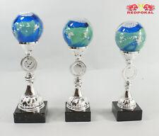 3er Serie Glaspokale - Glasständer - 27 - 29 cm inkl. Gravur und Emblem 23000