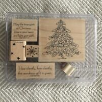 Wondrous Gift Christmas Tree Snowflake Rubber Stampin' Up Set of 6 RARE UNUSED