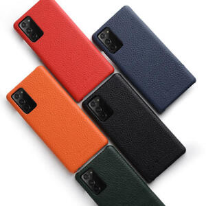 For Samsung Galaxy S21 Plus S21 Ultra Case Back Cover Genuine Leather Anti fall