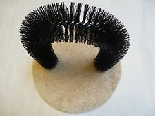 Self Groomer Cat Massager & Scratcher Arch with Bristles and Carpeted Wood Base