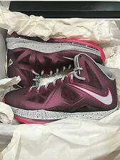 NEW Nike Lebron X 10 Crown Jewel Size 10 Purple 542244 600 Exclusive Champ DS