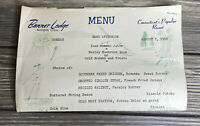 Vintage Menu Banner Lodge Moondus Connecticut Resort August 7, 1966