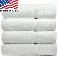 2 new white made in the USA bath towels 24X50 11# quality salon hotel spa resort