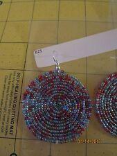New listing Round Beaded Earrings earring Kenya Africa masai art bead african seed b25
