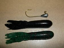 BASS JIG & TUBE COMBO I/8 OZ. FINESSE 12 pc. SET SALTY HOLLOW TUBES
