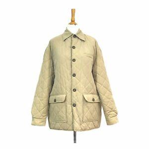 LIZ CLAIBORNE designer beige / Navy Reversible Light Padded Coat Jacket  UK -14