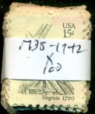 SCOTT #'s 1738-1742 USED, 100 STAMPS, GREAT PRICE!