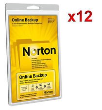 WHOLESALE JOBLOT 12x NORTON ONLINE BACKUP 5GB - 1 YEAR 5 COMPUTERS MAC & WINDOWS