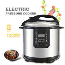 1200W 8QT Electric Digital Multifunction Pressure Cooker Stainless Steel