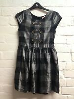 Girls Blue Zoo Age 11 Years Black/Silver Checked Party Dress
