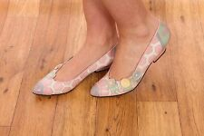 Vintage pink & white patchwork leather Paradox by Zalo heels