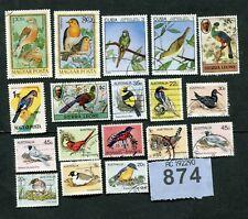 Set  stamps of  Birds.