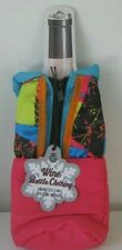 Wine Bottle Clothing Zip Up Cooler Insulated Wild Eye Design USA NEW