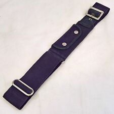 "BRITISH MILITARY BLUE BELT WITH POUCH 39"" LONG, 35"" LONG COVERS WRITING"