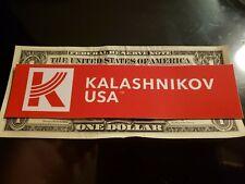 Kalashinikov USA Sticker authentic NEW