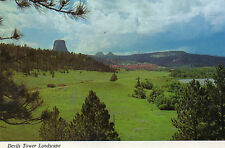 postcard USA Wyoming  Devills Tower Landscape  unposted