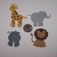 4 Baby Animals Premade PAPER Die Cuts / Scrapbook & Card Making