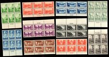 US Stamps: 740-749 National Parks Plate Blocks Mint, Never Hinged (cv$140.15)