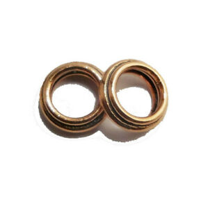 55 PCS 12MM COPPER DOUBLE WIRE CLOSED JUMP RING ANTIQUE COPPER 336 SRP-166