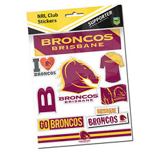Official NRL Brisbane Broncos Deluxe Club Stickers Sticker Sheet Pack