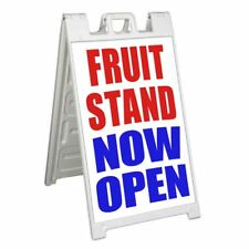 Fruit Stand Now Open Signicade 24x36 Aframe Sidewalk Sign Banner Decal Produce