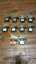 LOT OF 10 APC TOGGLE SWITCH CHROME UNIVERSAL NOS AIRCRAFT SAFETY COVER US SELLER