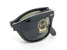 New Ray Ban Folding Wayfarer RB4105 601 Black /Crystal Green 54mm Sunglasses