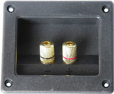 SPEAKER/SUBWOOFER TERMINAL MOUNTING CONNECTION PANEL PLATE GOLD PLATED CONTACTS