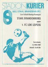 OL 86/87  BSG Stahl Brandenburg - 1. FC Lok Leipzig