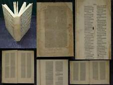 INKUNABEL STEPHANUS DE CAIETA 224 BLATT JODOCUS HOHENSTEIN NEAPEL 1475 #A946S