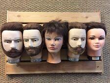 pack de 5 têtes pour casque calot casquette béret lunettes mannequin kepi
