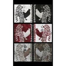 Quilting Treasures Bonjour by Color Bakery 23904 J Rooster Panel Cotton Fab BTY