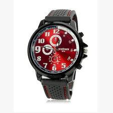 Men Army Silicone Strap Dial Large Wrist Sport Quartz Watch  Elegant