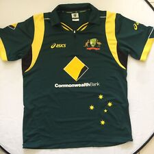 Asics Licensed Australia One Day Cricket Team M Zip Polo Jersey Lovely Colourway
