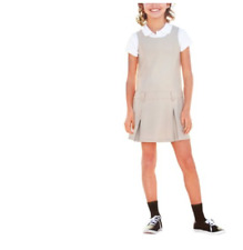 Girls' School Uniform Belted Jumper with Buttoned Belt Loops Size 4
