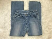 Womens Denim Jeans Maurices Light Wash Size Medium Inseam 34""