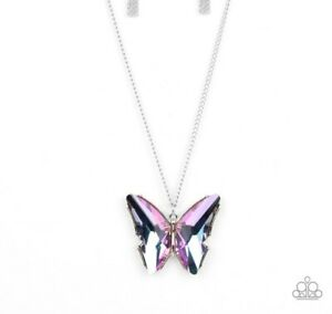 """PAPARAZZI Life Of The Party """"The Social BUTTERFLY Effect"""" OIL SPILL NECKLACE NEW"""