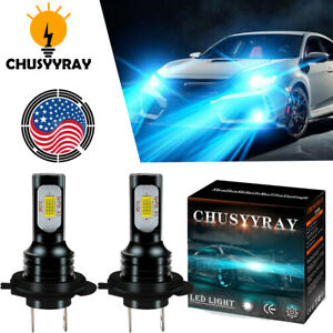 Pair H7 LED Headlight Bulb for Mercedes Benz E350 2007-2010 Extremely Bright US