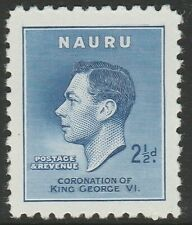 More details for nauru 1937 coronation 2½d with re-entry sg 46a mnh.