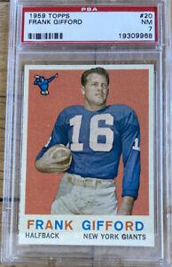 1959 Topps Frank Gifford #20 PSA 7 HOF