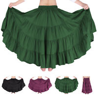 Indian Style Ladies Ruffles Skirt Long Maxi Skirt Beach Wear BOHO Hippy Gypsy