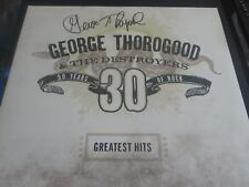 GEORGE THOROGOOD SIGNED 30 YEARS OF ROCK  VINYL ALBUM COVER JSA EXACT PROOF