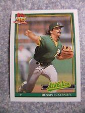 L#606 1991 Topps #250 Dennis Eckersley, Oakland A's.  NrMt condition