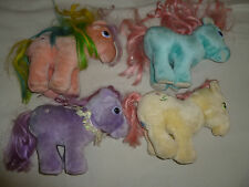 VINTAGE G1 MY LITTLE PONY HASBRO SOFTIES PLUSH LOT PARASOL POSEY BOW TIE BLOSSOM