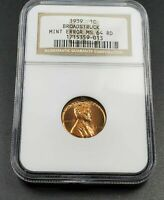 Broadstrike Off Center Error 1939 P Lincoln Wheat Cent Penny Coin NGC MS64 RD