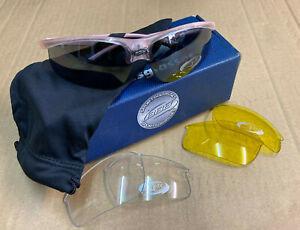BBB Winner Crystal Pink Cycling Sunglasses. BSG-23. 3 x Lens Sets. *NOS