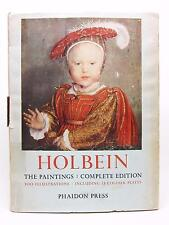 THE PAINTINGS OF HANS HOLBEIN First Complete Edition BOOK Paul Ganz 1956 PHAIDON