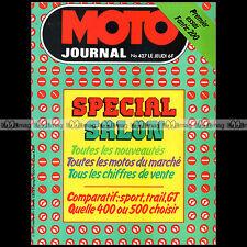 MOTO JOURNAL N°427 YAMAHA XS XT 500 HONDA CX 500 KAWASAKI Z 500 SALON 1979