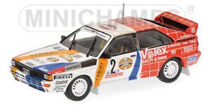 1:43 Minichamps Audi Quattro #2 Winner Hunsruck Rally 1984 Demuth/Lux 430841991
